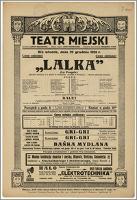 [Afisz:] Lalka (La Poupée). Operetka komiczna w 3 aktach (4 odsłonach)