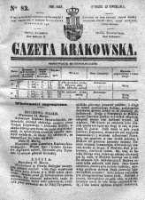 Gazeta Krakowska, 1842, Nr 82