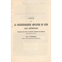 Note sur la dégénérescence amyloïde du rein sans albuminurie : communication faiteà la Société médicale des hôpitaux dans la séance du 10 juin 1881 - Straus, Isidore