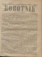 Robotnik Katolicko - Polski : bezpłatny dodatek do Gazety Grudziądzkiej 1905.07.25 R.1 nr 18