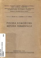 Polska komorowa metoda fermentacji - Trojan, Józef. (1900-1967).