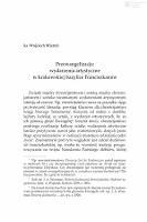 Preewangelizacja : wydarzenia artystyczne w krakowskiej bazylice franciszkanów - Misztal, Wojciech (1961- )