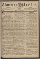 Thorner Presse 1891, Jg. IX, Nro. 281 + Beilage