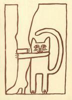 Grafika, Kot przy nodze - Kot, Andrzej (1946-2015)