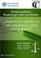 Dopuszczalność testamentu wspólnego na terenie Hiszpanii - Niemotko, Rafał