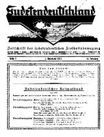 Sudetendeutschland : Zeitschrift für die sudetendeutsche Bewegung im Auslande, 1931, H. 9
