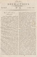 Rozmaitości : oddział literacki Gazety Lwowskiej. 1821, nr76