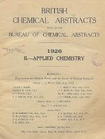 British Chemical Abstracts. B. Applied Chemistry, October 29