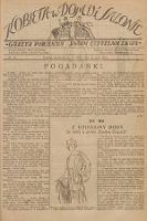 Kobieta w Domu i Salonie : Gazeta Poranna swoim czytelniczkom. 1925, nr12
