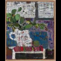 Liście na fioletowej ścianie - Nacht-Samborski, Artur (1898-1974)