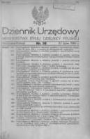 Dziennik Urzędowy Ministerstwa Byłej Dzielnicy Pruskiej 1920.07.27 R.1 Nr38