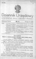 Dziennik Urzędowy Ministerstwa Byłej Dzielnicy Pruskiej 1920.01.16 R.1 Nr2