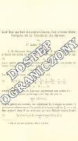 Sur les suites de polynômes, les ensembles fermés et la fonction de Green - Leja, Franciszek (1885-1979)