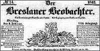 Der Breslauer Beobachter. Ein Unterhaltungs-Blatt für alle Stände. Als Ergänzung zum Breslauer Erzähler. 1842-04-05 Jg. 8 Nr 41