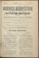 Wiadomości Archidyecezyalne Warszawskie : miesięcznik Duchowieństwa Archidyecezyi Warszawskiej. R. 2, 1912 nr 3 (marzec)