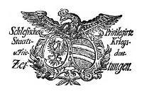 Schlesische Privilegirte Staats- Kriegs- und Friedens-Zeitungen. 1765-01-02 [Jg.24] Nr 1