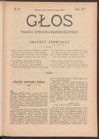 Głos : tygodnik literacko-społeczno-polityczny. R. 14, 1899 nr 14 (8 IV [27 III])
