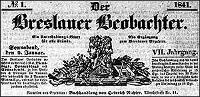 Der Breslauer Beobachter. Ein Unterhaltungs-Blatt für alle Stände. Als Ergänzung zum Breslauer Erzähler 1841-12-30 Jg.7 Nr 156