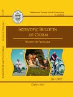 Scientific Bulletin of Chełm : section of pedagogy 2013 No. 1