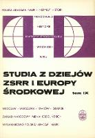Studia z Dziejów ZSRR i Europy Środkowej. T. 9 (1973), Listy do redakcji