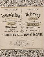 Fahrender Spielmann : Suite von Mazurkas für gemischten Chor und Pianoforte zu vier Händen = Wędrowny grajek : mazury na chór mieszany i fortepian na cztery ręce : Op. 18 - Noskowski, Zygmunt (1846-1909)