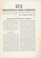 Acta Archiepiscopalis Curiae Olomucensis pro parte Sudetica et Borussica 1942, nr 13.