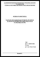 Nagniatanie narzędziami hydrostatycznymi złożonych powierzchni przestrzennych na frezarkach CNC rozprawa doktorska - Grochała, Daniel