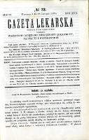 Gazeta Lekarska 1874 R.9, t.17, nr 22