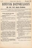Dziennik Rozporządzeń dla Stoł. Król. Miasta Krakowa. 1891, L.5