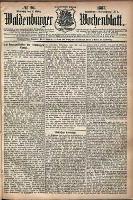 Waldenburger Wochenblatt, Jg. 33, 1887, nr 20