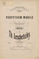 Perpetuum mobile : etude-caprice : pour piano : op. 20 - Leszetycki, Teodor (1830-1915)