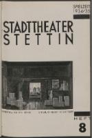Stadt-Theater Stettin. 1934 H. 8