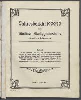 Jahresbericht des Stettiner Stadtgymnasiums, Ehemaligen Rats-Lyceums 1909/10