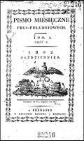 Pismo Miesięczne Prus Południowych., T.1, cz.5 (paźdz. 1802)