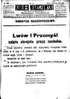 Kurjer Warszawski., R.98, nr 303 (2 listopada 1918) - dod. nadzw.