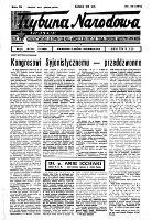 Trybuna Narodowa : organ rewizjonizmu sjonistycznego : Kraków, Lwów, Warszawa, R.6, nr 33 (18 sierpnia 1939)