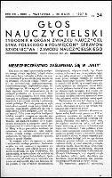 Głos Nauczycielski : organ Zrzeszenia Nauczycielstwa Polskich Szkół Początkowych, R. 21, nr 34 (30 maja 1937)