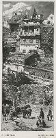 A. Gierymski : Stare Budynki nad Wisłą - Ciechomski, W.alenty? (fl. ca 1878-1893). Ryt.