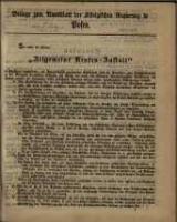 Beilage zum Amtsblatt der Königlichen Regierung zu Posen.