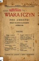 Wiara i Czyn. Pro Christo!: organ młodych katolików 1925, nr 9