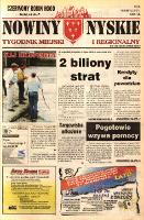 Nowiny Nyskie : tygodnik miejski i regionalny 1997, nr 34 [33]. - Sanocki, Janusz. Red. nacz.
