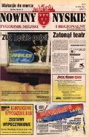 Nowiny Nyskie : tygodnik miejski i regionalny 1997, nr 32 [31]. - Sanocki, Janusz. Red. nacz.