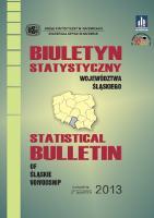 Biuletyn Statystyczny Województwa Śląskiego, 2013, 2 kwartał