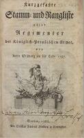 von deren Stiftung an bis Ende 1787