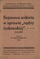 """Sejmowa ankieta w sprawie """"nędzy żydowskiej"""" - Nussbrecher, Zygmunt"""