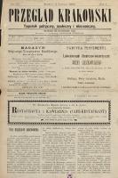 Przegląd Krakowski : tygodnik polityczny, społeczny iekonomiczny. 1895, nr22