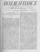 Rozmaitości. Pismo Dodatkowe do Gazety Lwowskiej. 1824 R.4 nr9