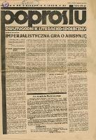 Poprostu : dwutygodnik literacko-społeczny 1935 nr 1