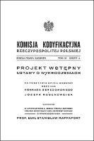 Komisja Kodyfikacyjna Rzeczypospolitej Polskiej. Sekcja Prawa Karnego. T. 4, z. 4