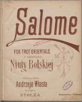 Salome : fox-trot orientale z repertuaru Niuty Bolskiej - Stolz, Robert (1880-1975)